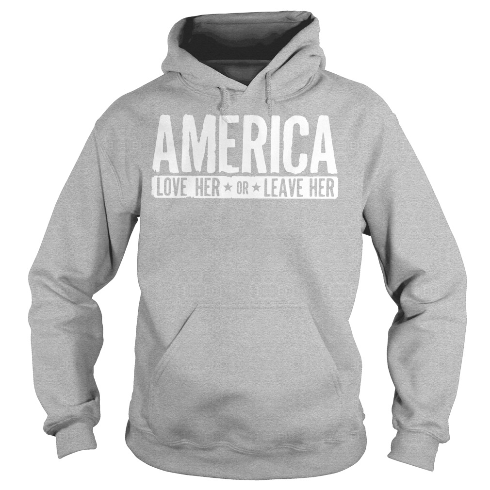 AMERICA Love her or leave her workout Hoodie