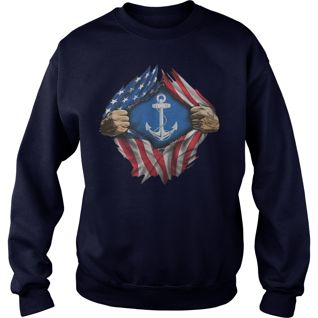 American flag Sailor Independence the 4th of July Sweater