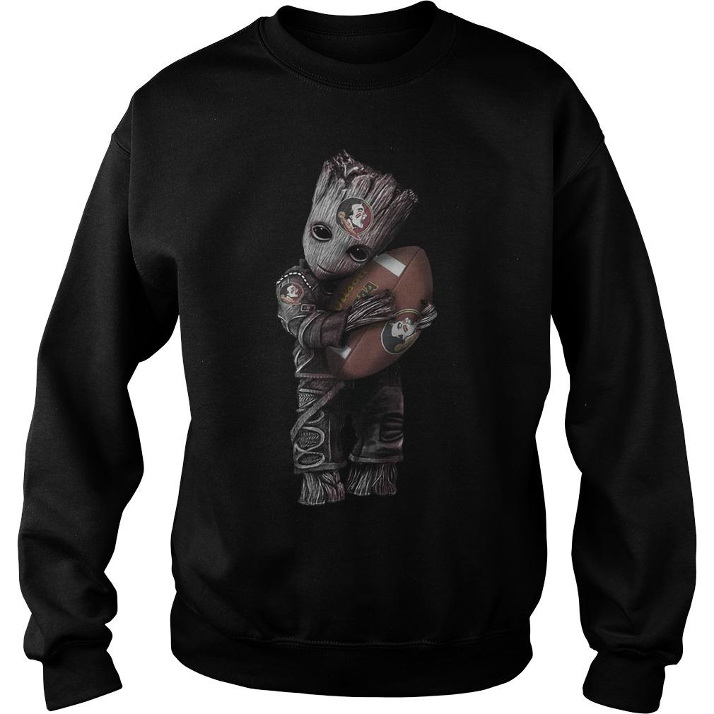 Baby Groot hug Florida State Seminoles Football Sweater