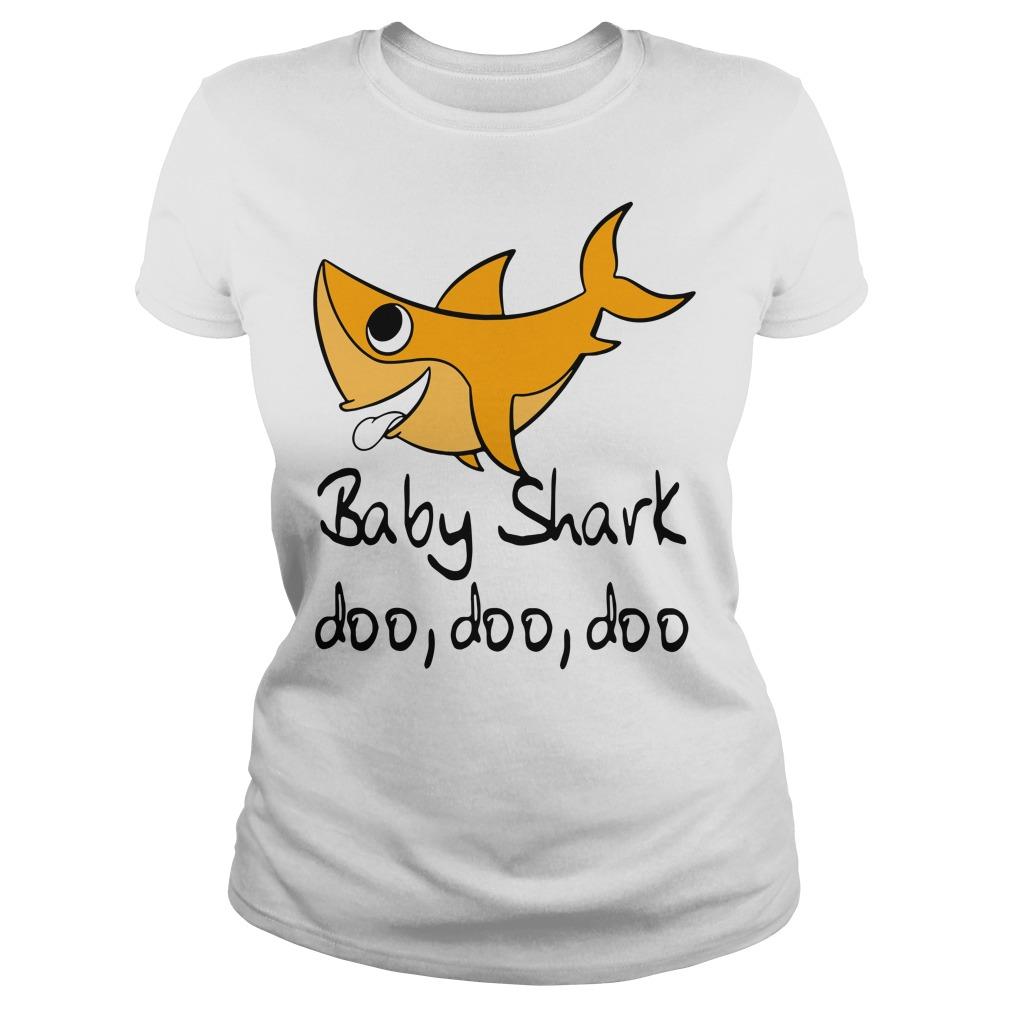 Baby shark doo doo doo baby shark Pinkfong family Ladies tee