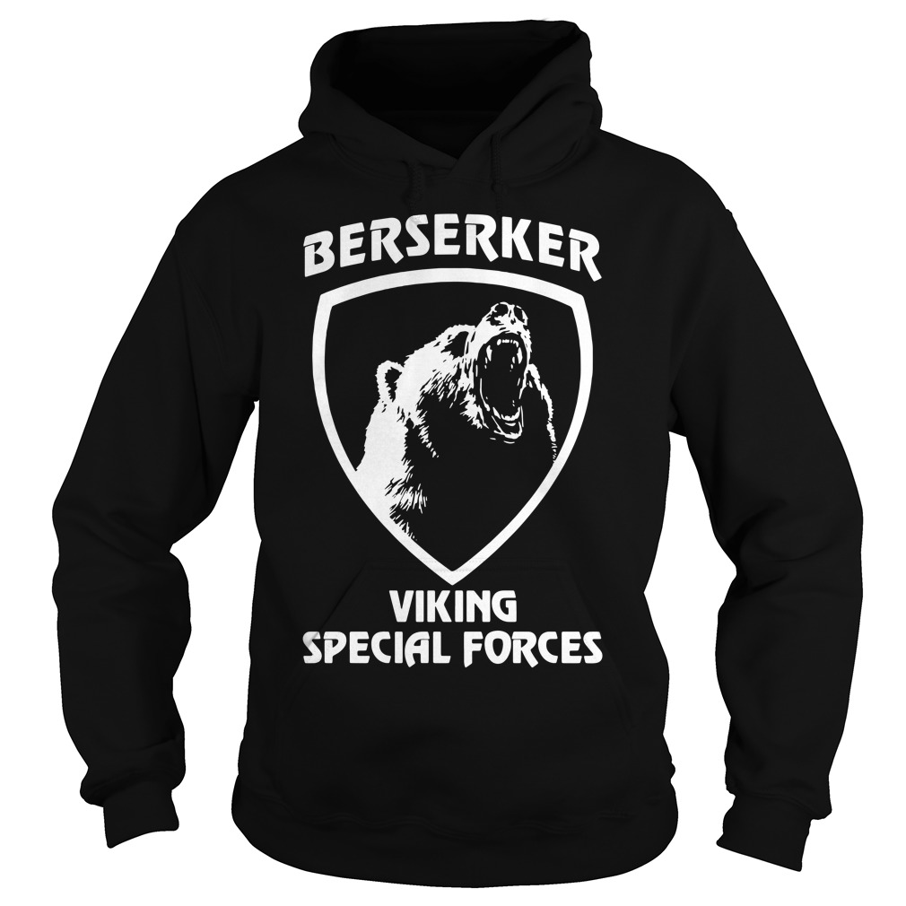 Black bear Berserker Viking Special forces Black bear Hoodie