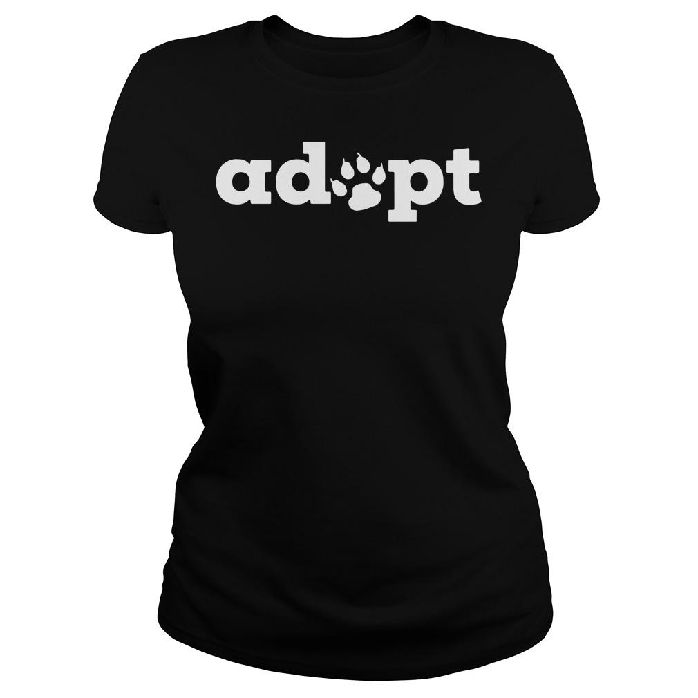 Dog adopt Ladies tee