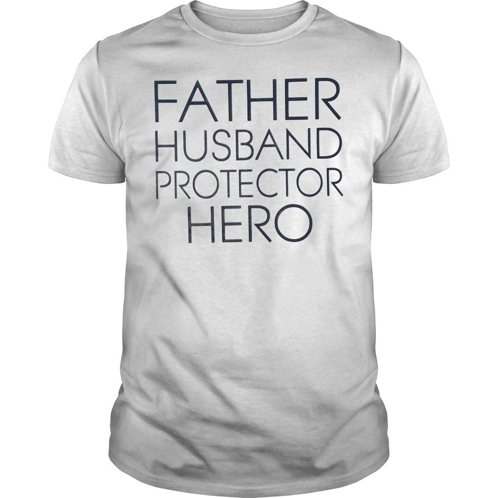 Father Husband Protector Hero men's Guys tee