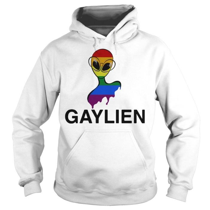 Gaylien LGBT rainbow pride parade Hoodie