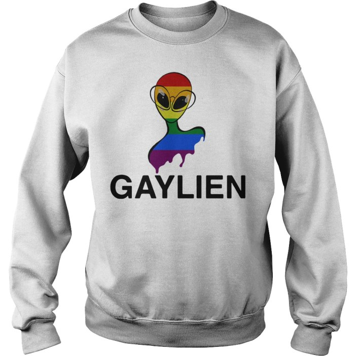 Gaylien LGBT rainbow pride parade Sweater