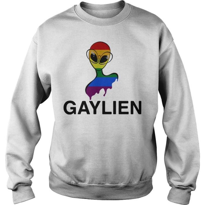 Gaylien LGBT rainbow pride parade Sweater