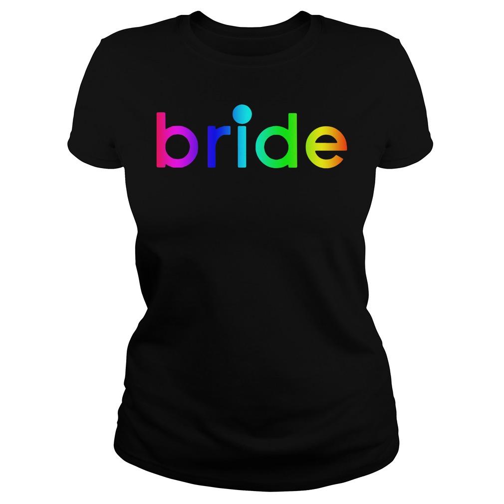 Kaley Cuoco bride LGBT Ladies tee