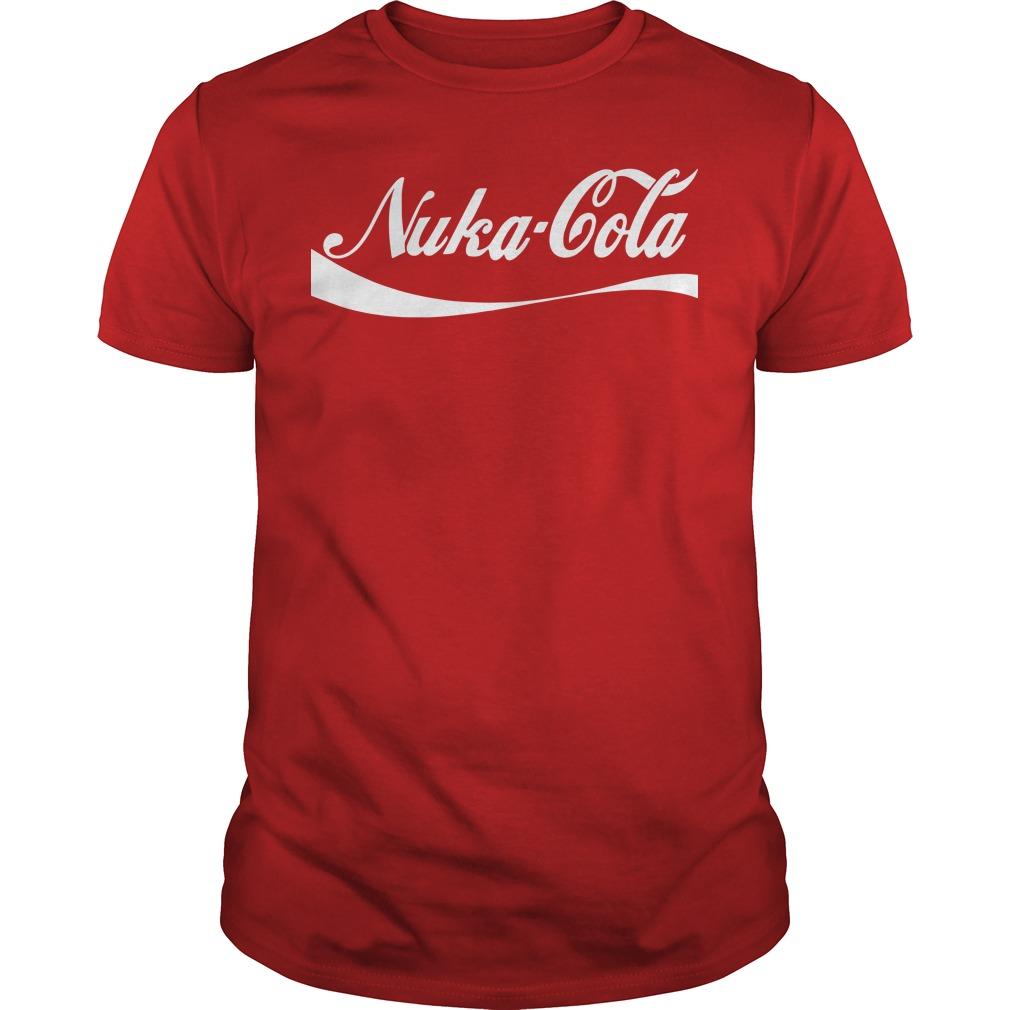 Nuka Cola parody choke Guys tee