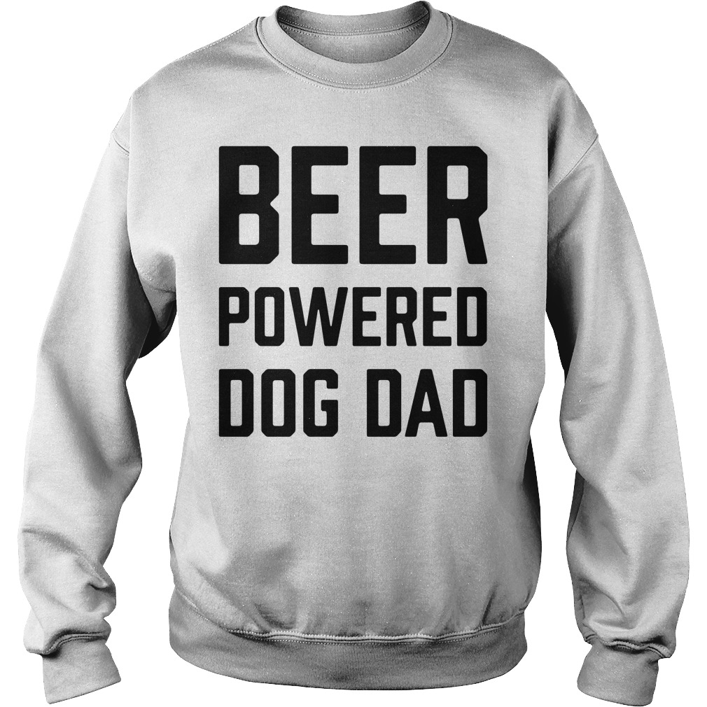 Official Beer powered dog dad beer Sweater