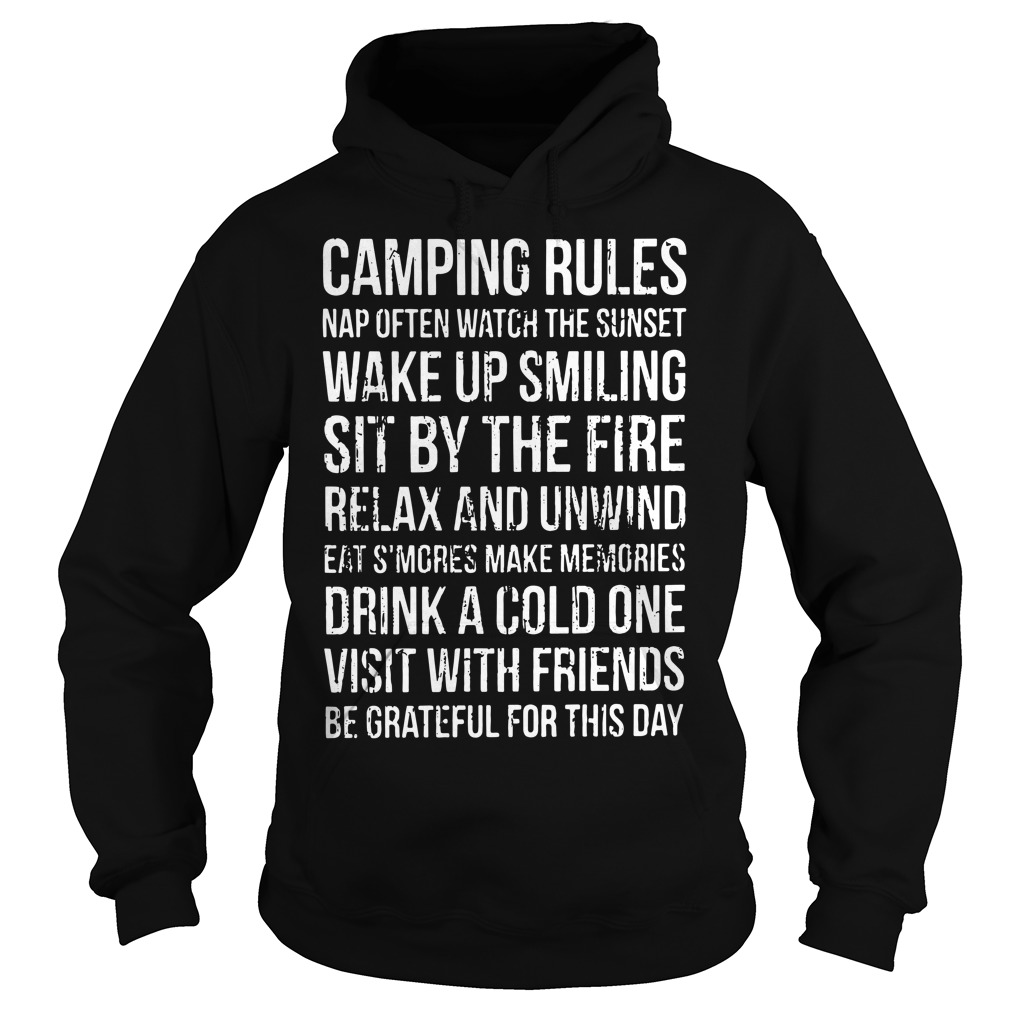Official Camping rules Hoodie