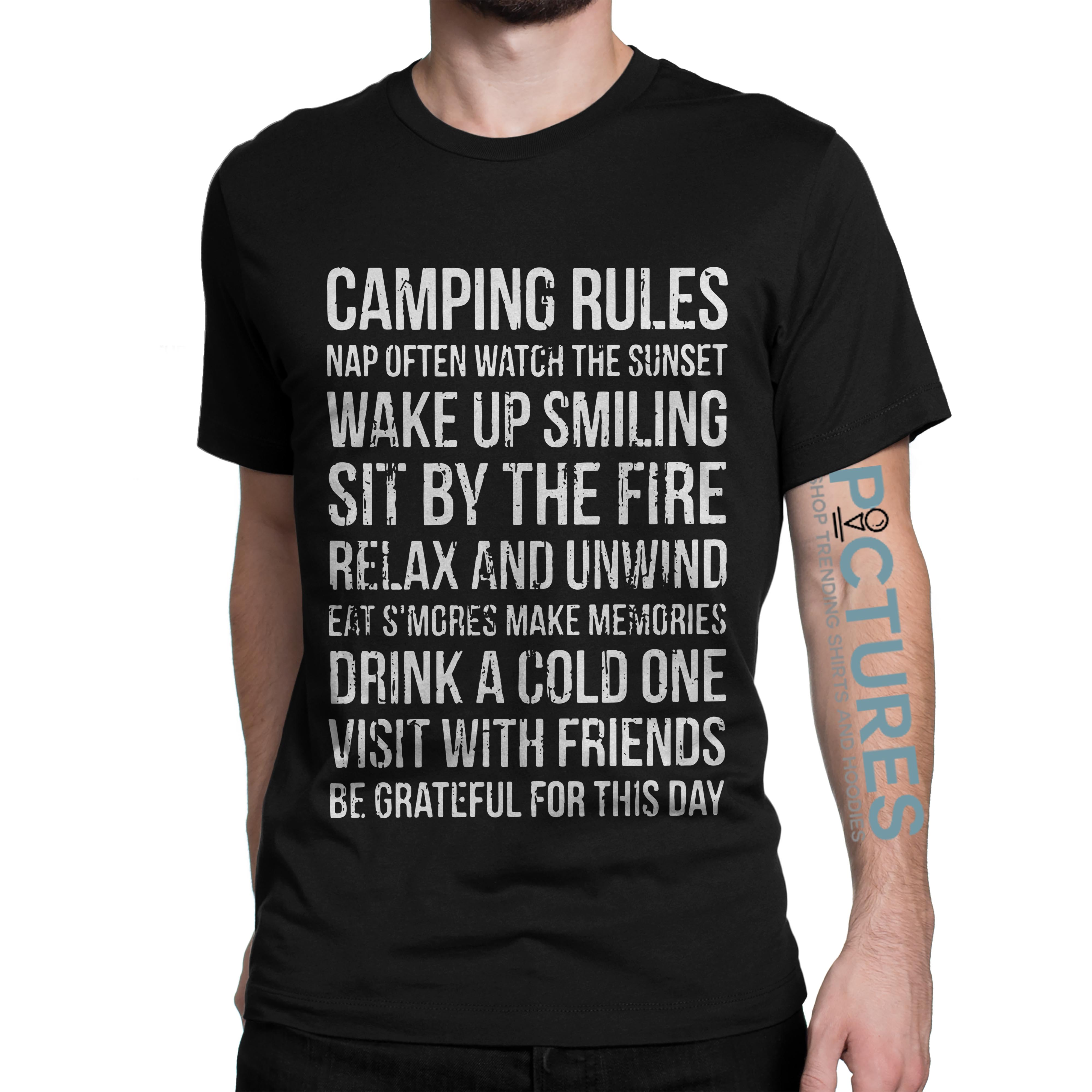 Official Camping rules shirt
