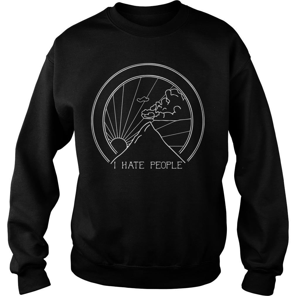 Official I hate people camping Sweater
