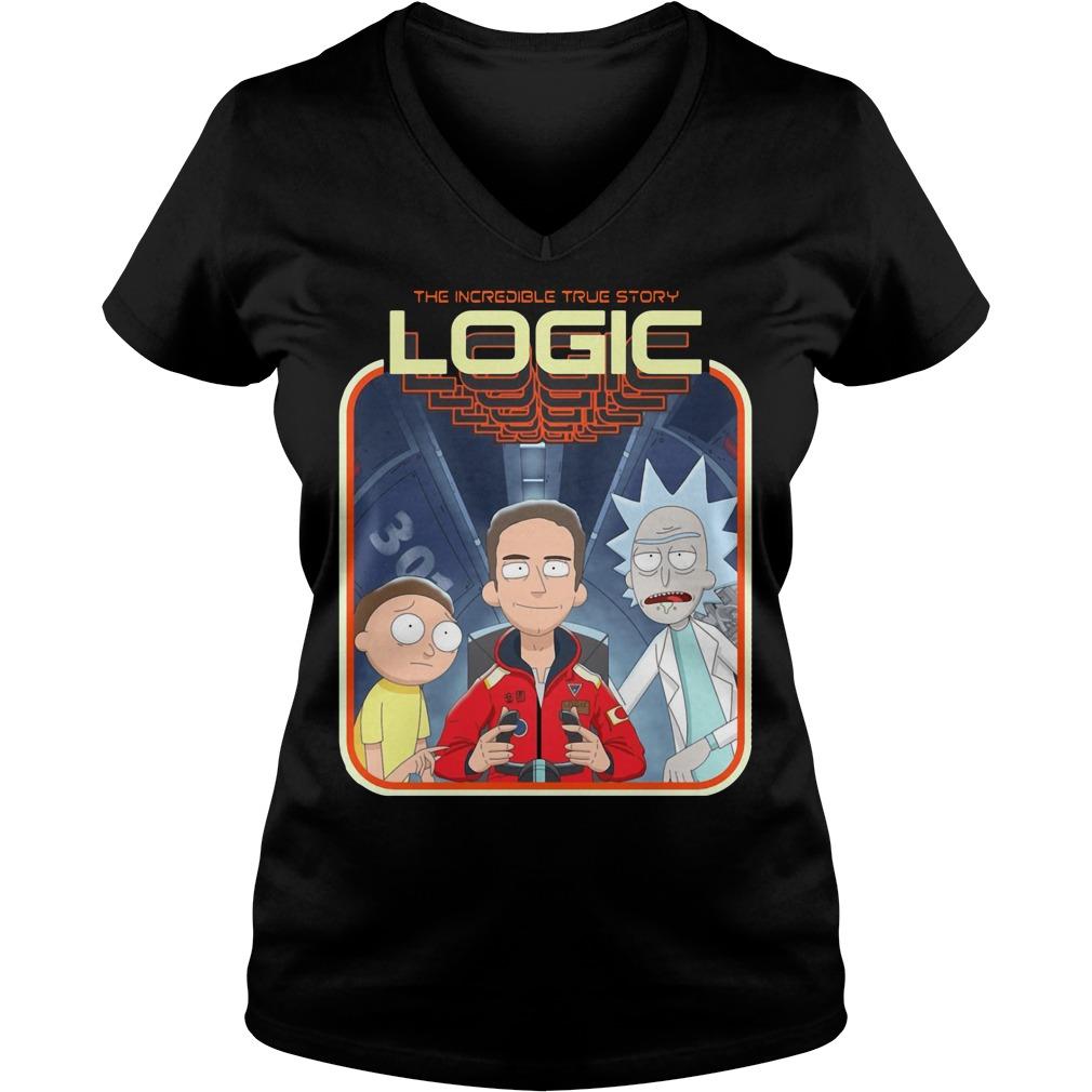 Official Rick and Morty logic V-neck t-shirt