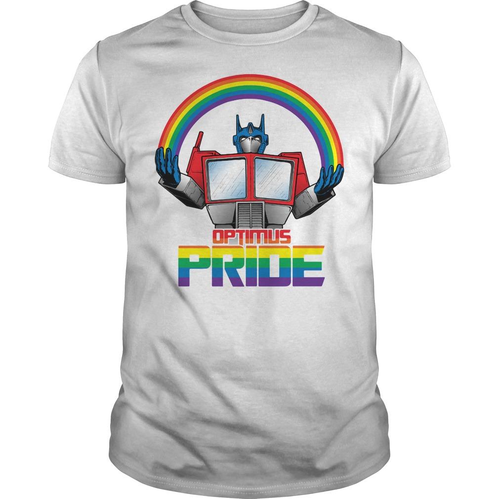 Optimus pride transformers LGBT pride shirt
