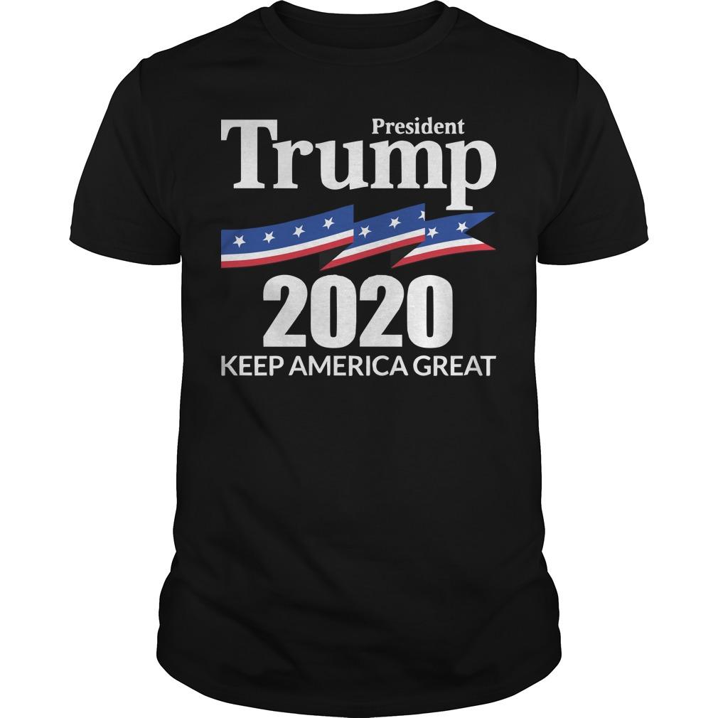 Trump tee shirt: 2020 How to Keep America great simple
