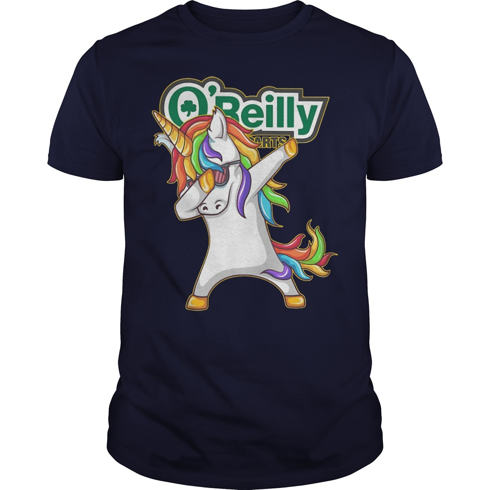Unicorn Dabbing O'Reilly Auto Parts shirt