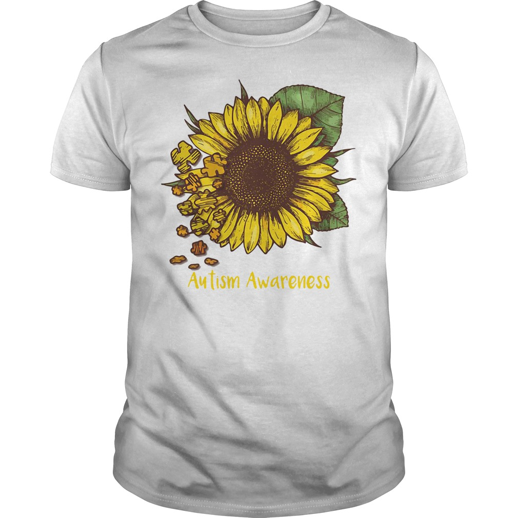 Autism awareness sunflower Guys tee