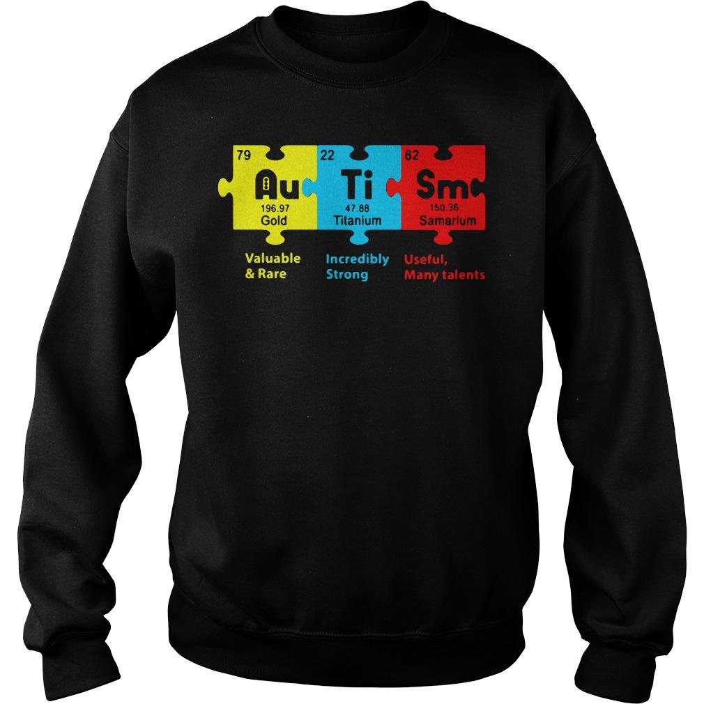 Autism Gold Titanium Samarium Sweater