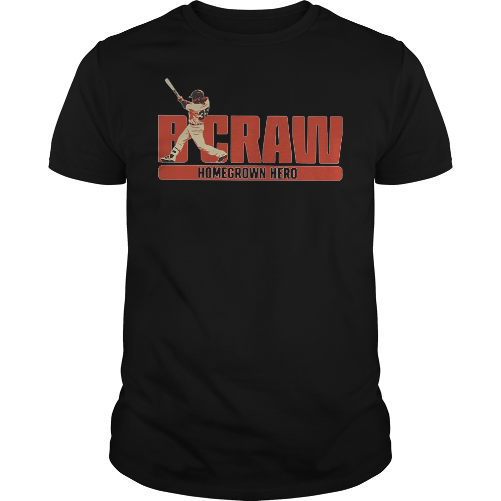 B Crawling Brandon Crawford San Francisco Giants 2018 Guys tee