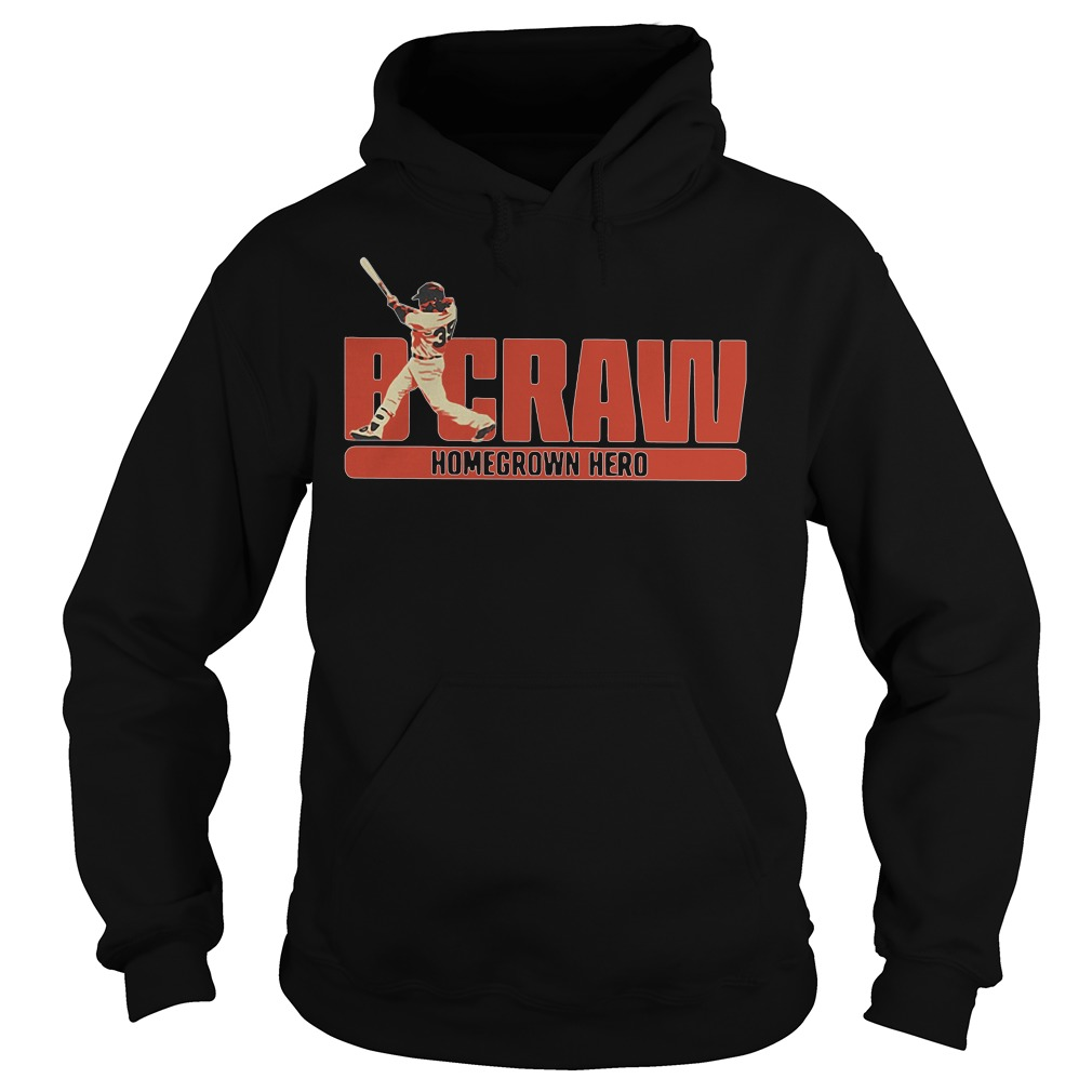 B Crawling Brandon Crawford San Francisco Giants 2018 Hoodie