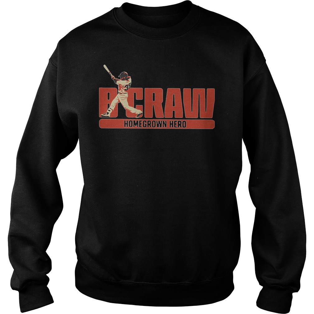 B Crawling Brandon Crawford San Francisco Giants 2018 Sweater