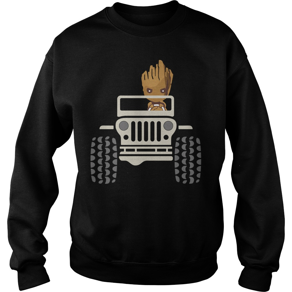 Baby Groot Drive Jeep Sweater