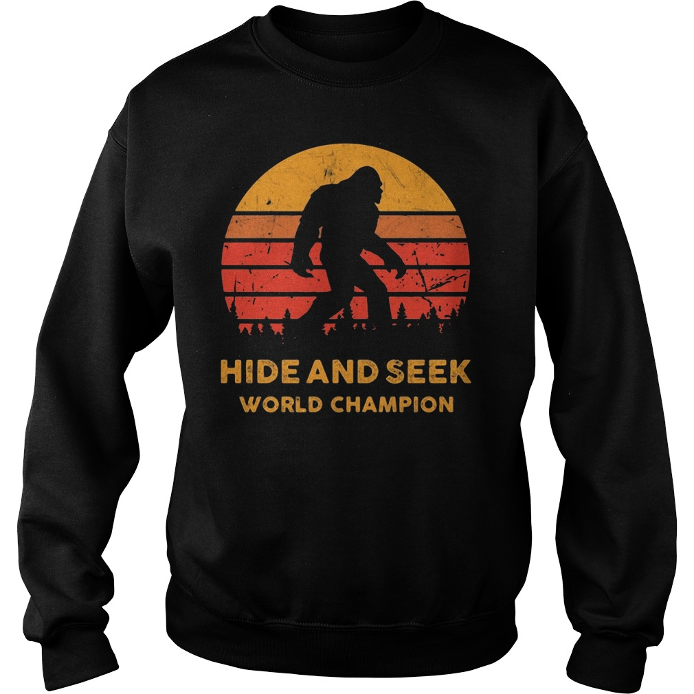Big Foot Hide And Seek World Champion Sweater