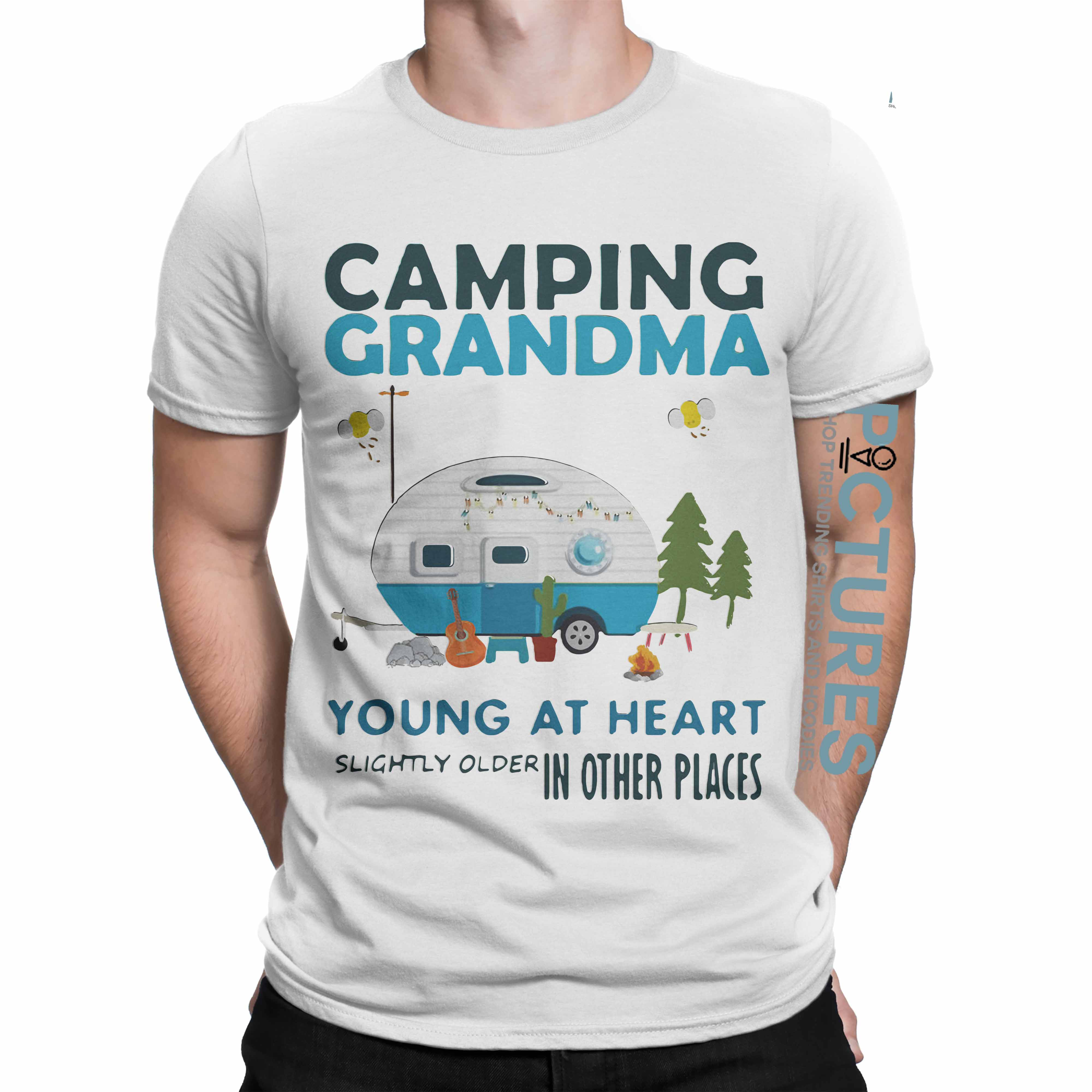 Camping Grandma young at heart slightly older other places shirt