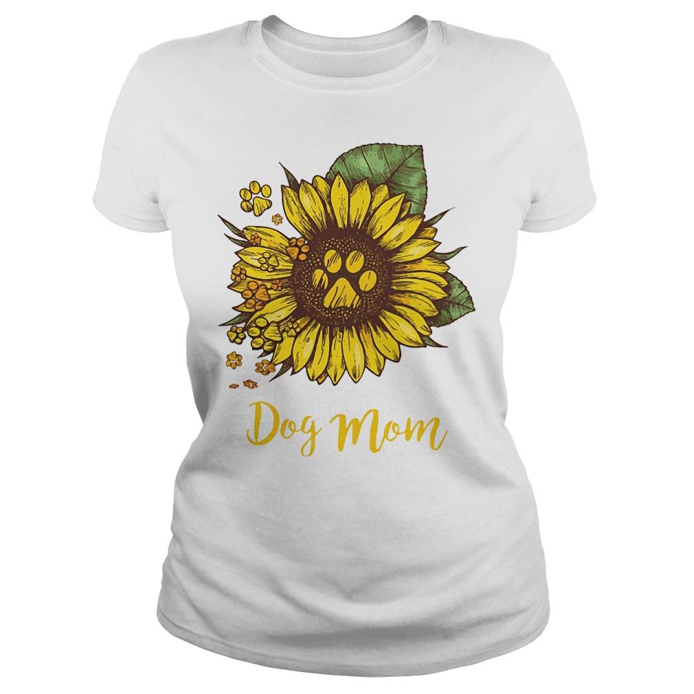 Dog Mom Sunflower Ladies tee