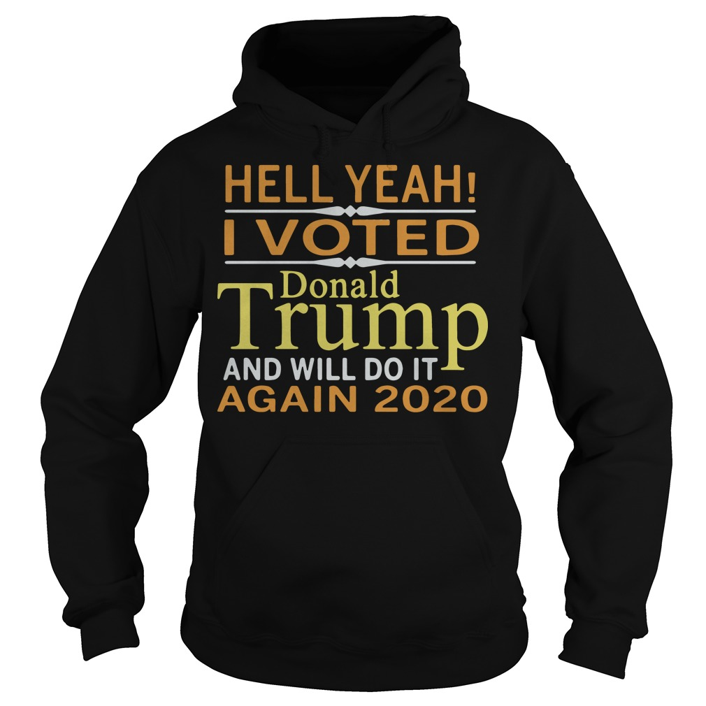 Hell Yeah I Vote Donald Trump And Will Do It Again 2020 Hoodie