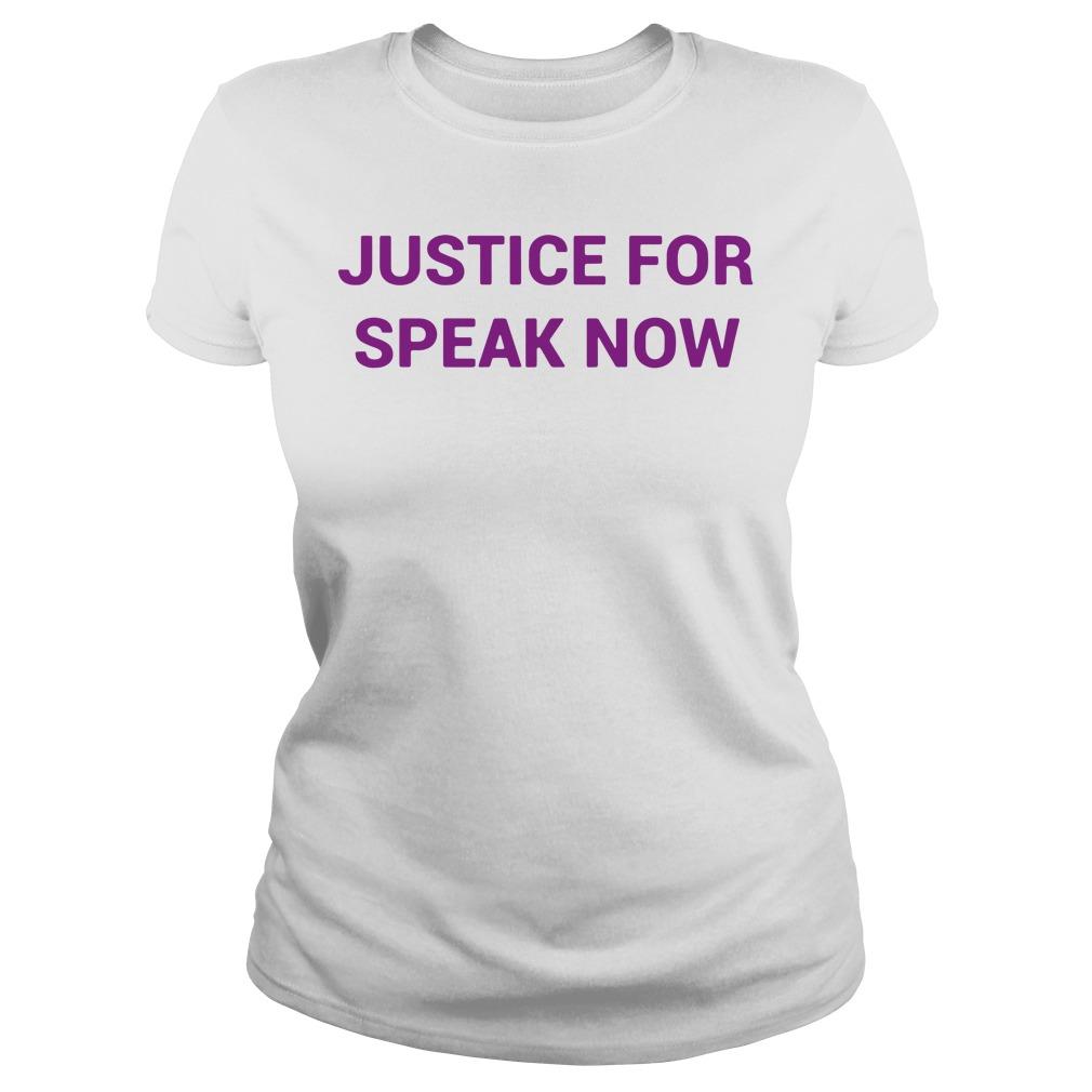 Justice For Speak Now Ladies tee