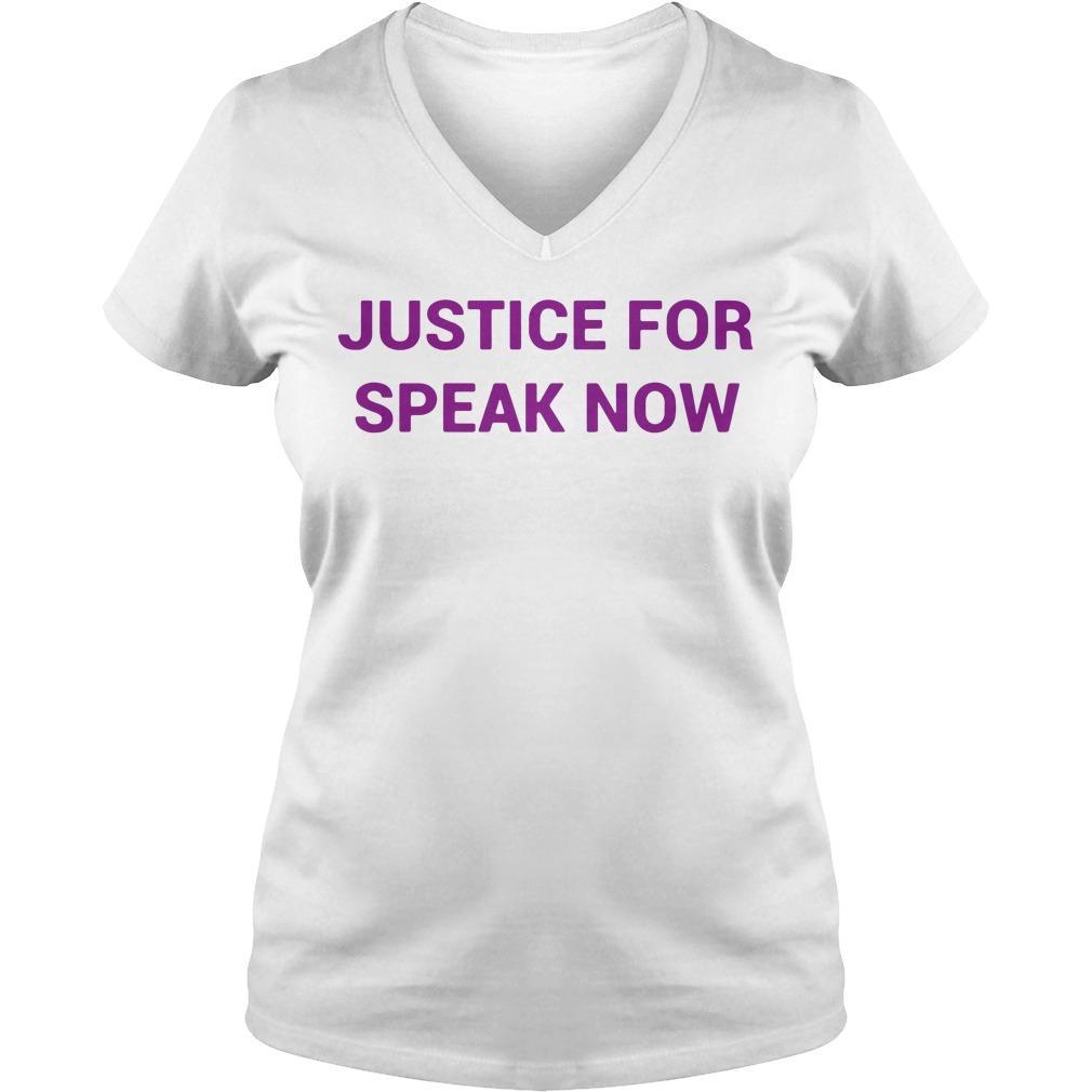 Justice For Speak Now V-neck