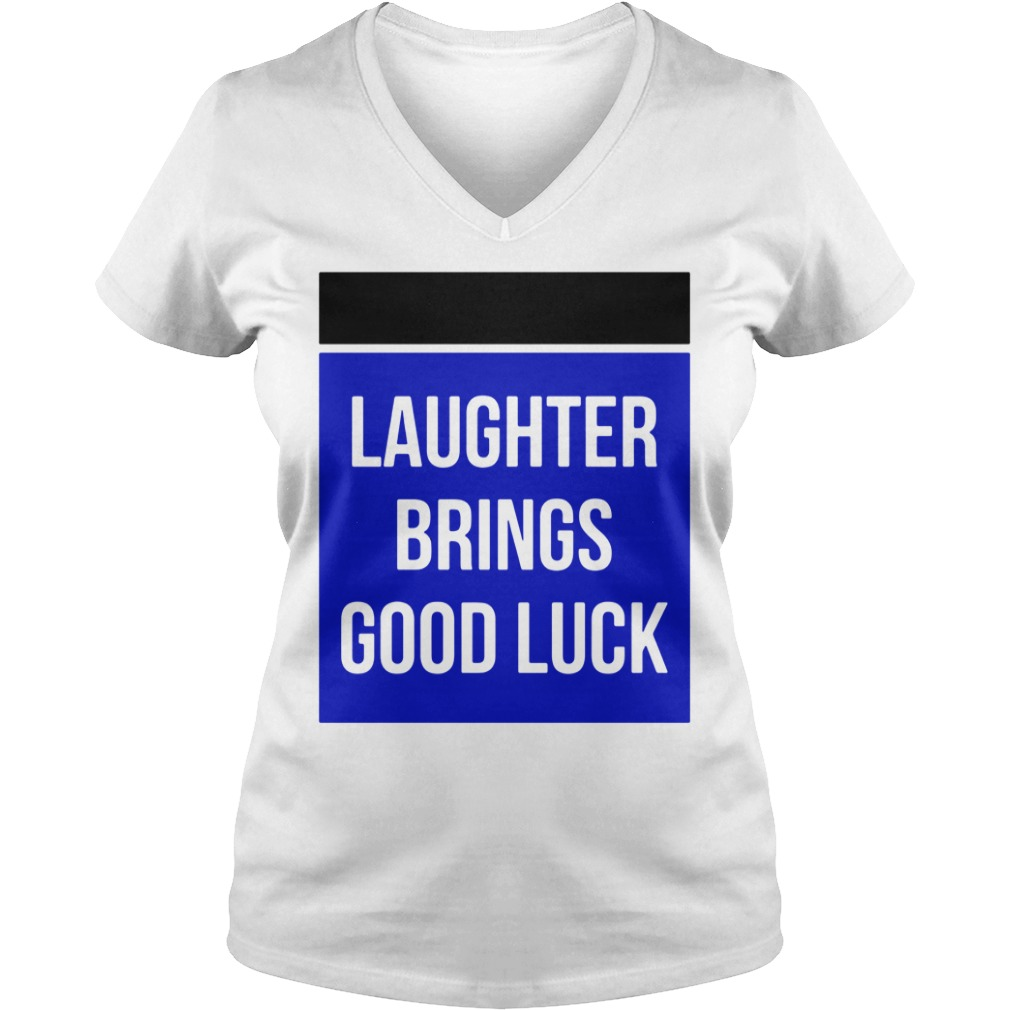 Laughter Brings Good Luck V-neck