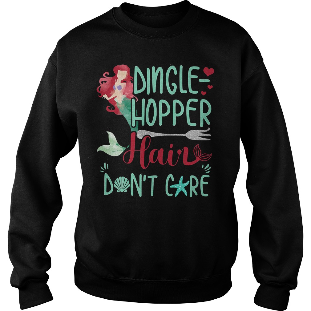Mermaid Dinglehopper Hair Don't Care Disney Sweater