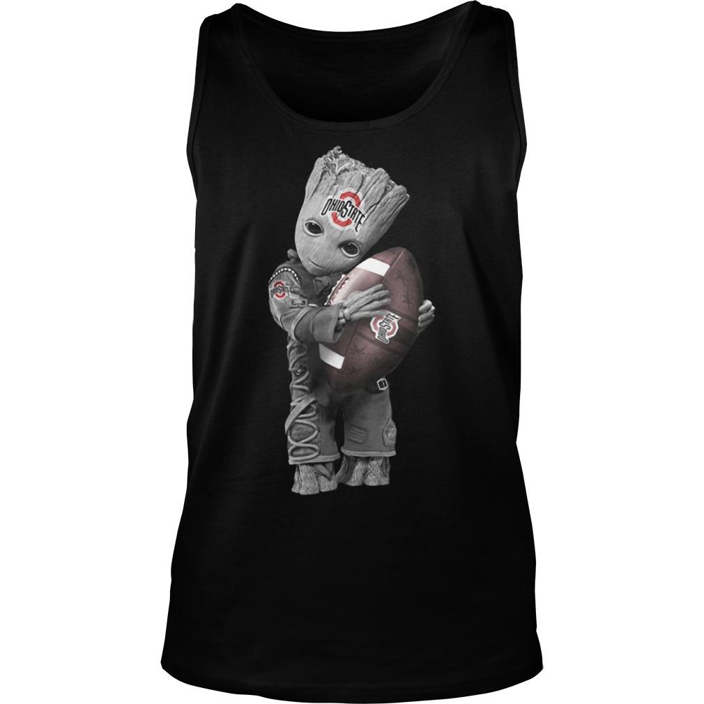 Official Baby Groot Hug Ohio State Buckeyes Tank top