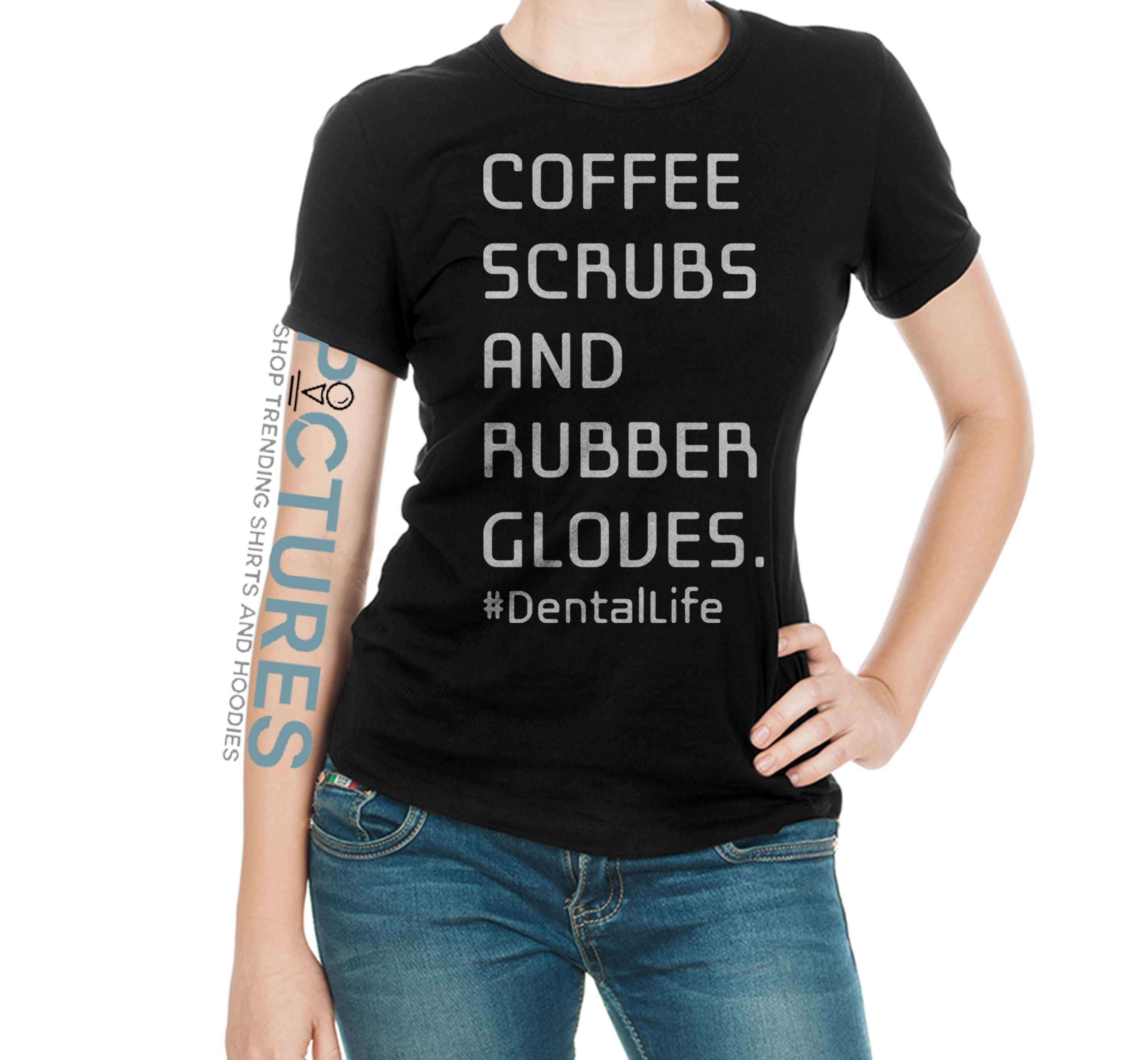 Official Coffee Scrubs and Rubber Gloves dentallife shirt