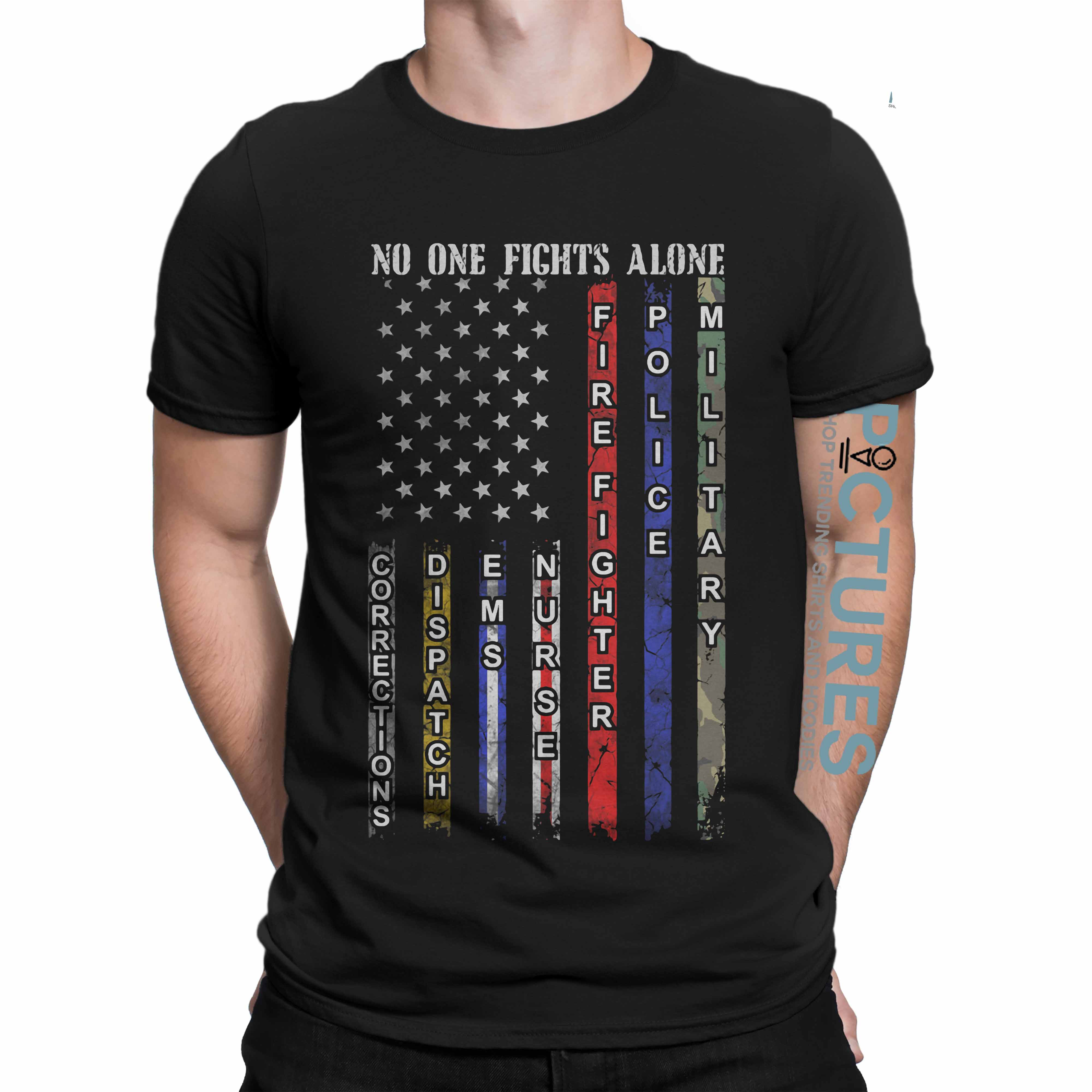 Official No one fight alone shirt