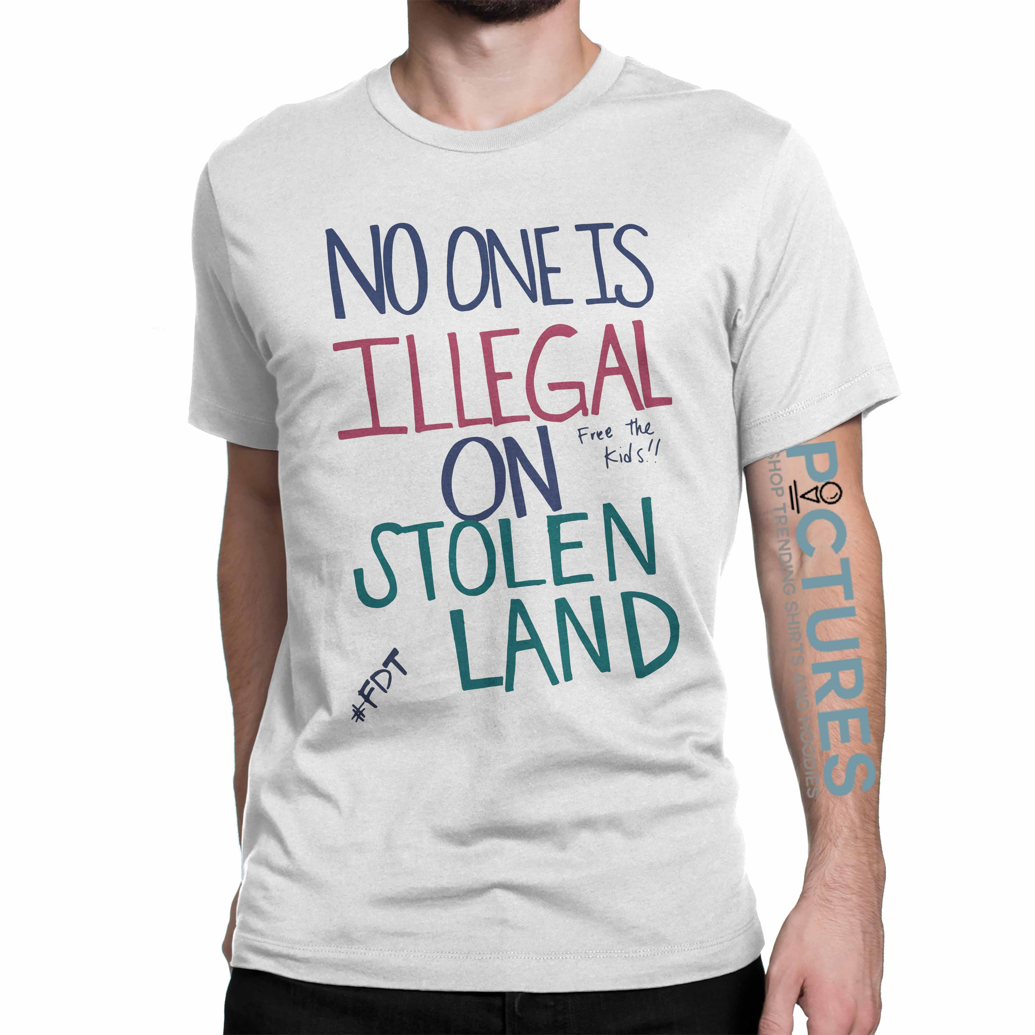 Official No one is illegal on stolen land free the kids shirt
