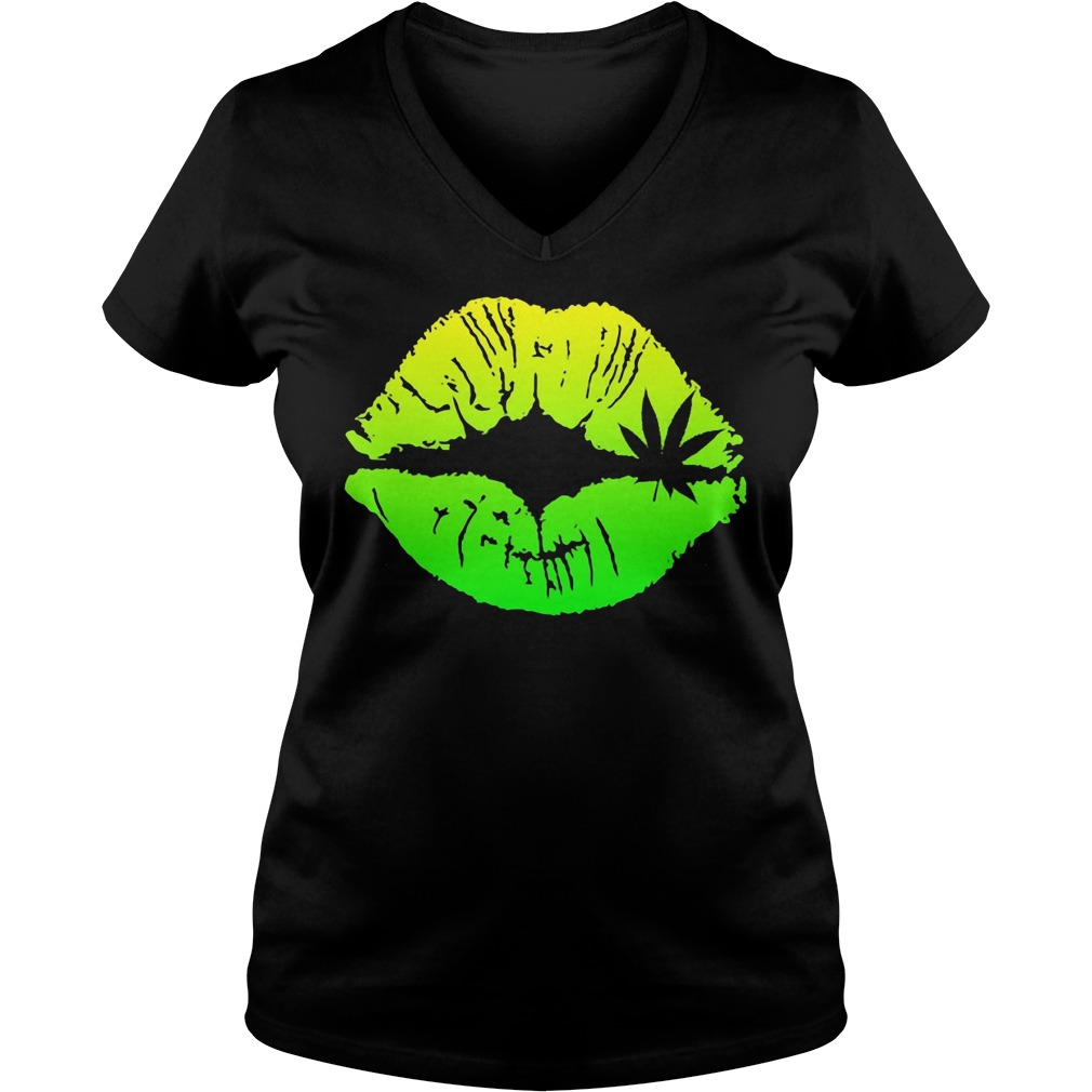 Official Weed Lips V-neck