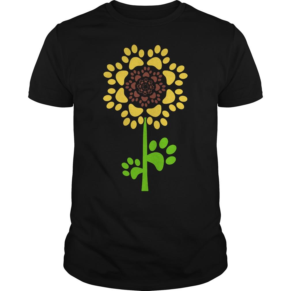 Sunflower Dog Paw Guys tee
