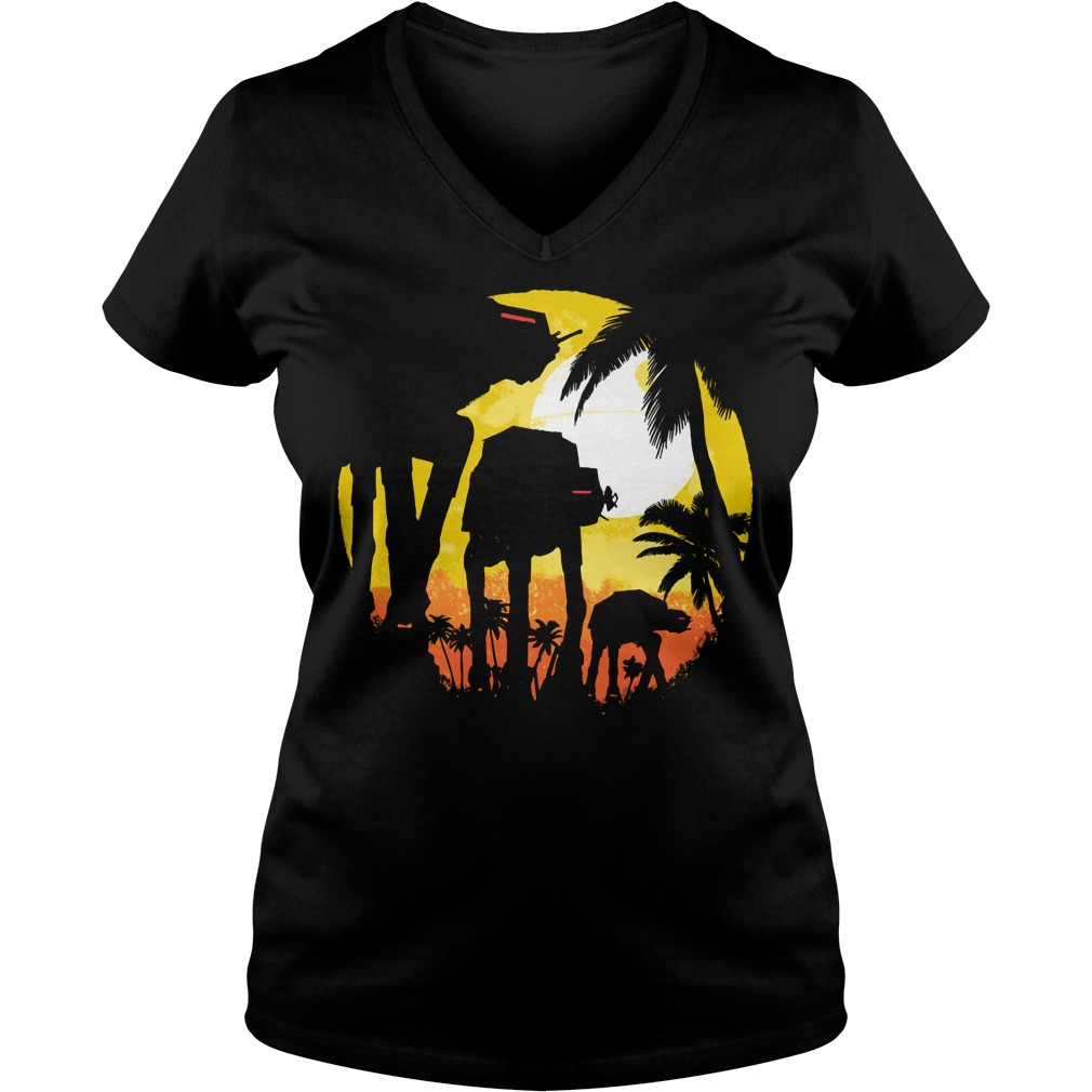 Tropical attack Star wars V-neck t-shirt