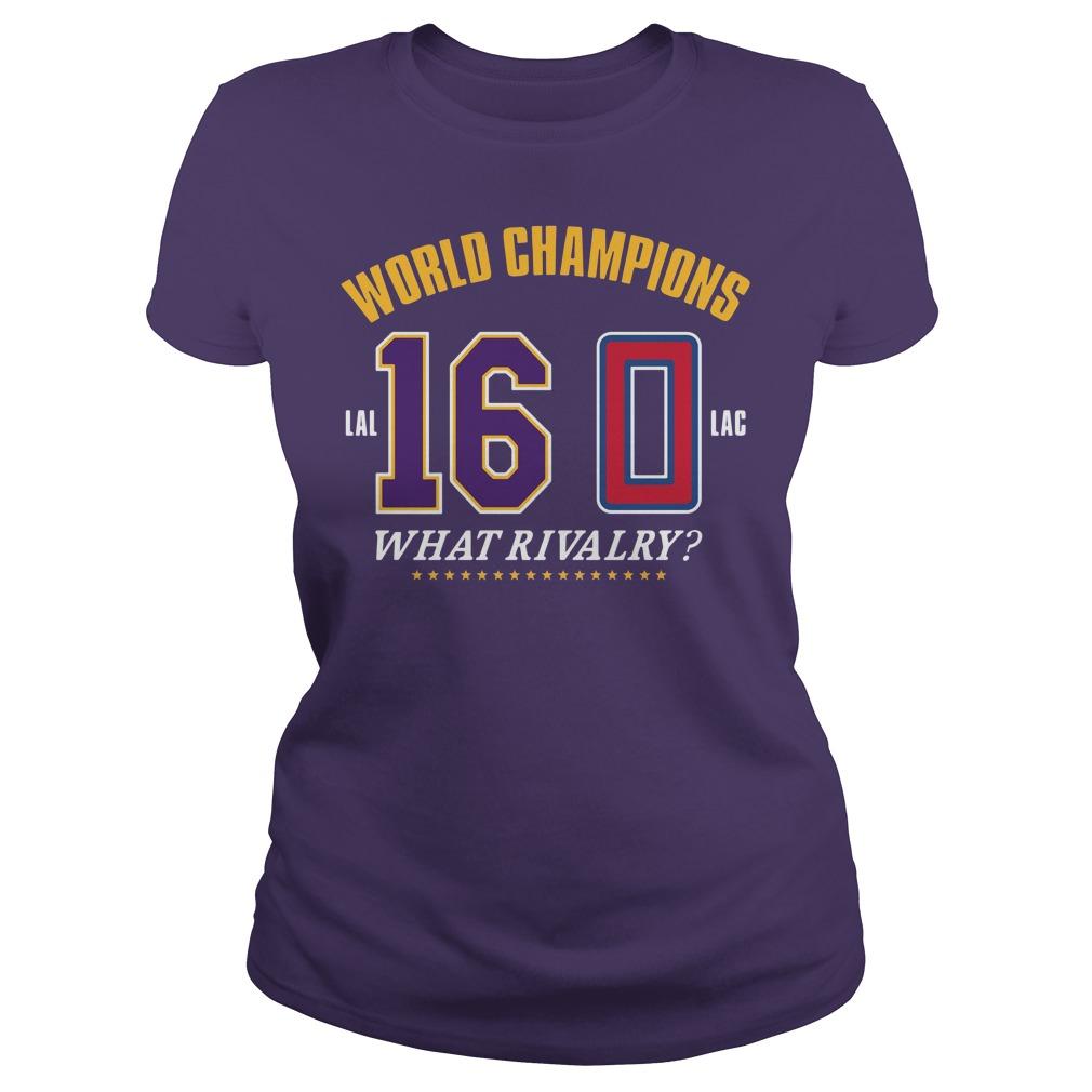 World Champions What Rivalry Ladies tee