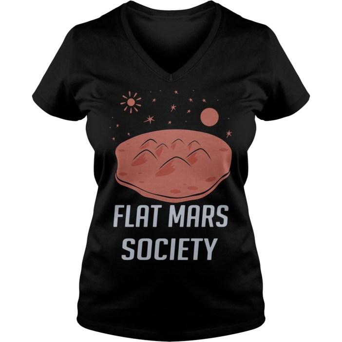 Flat Mars Society V-neck