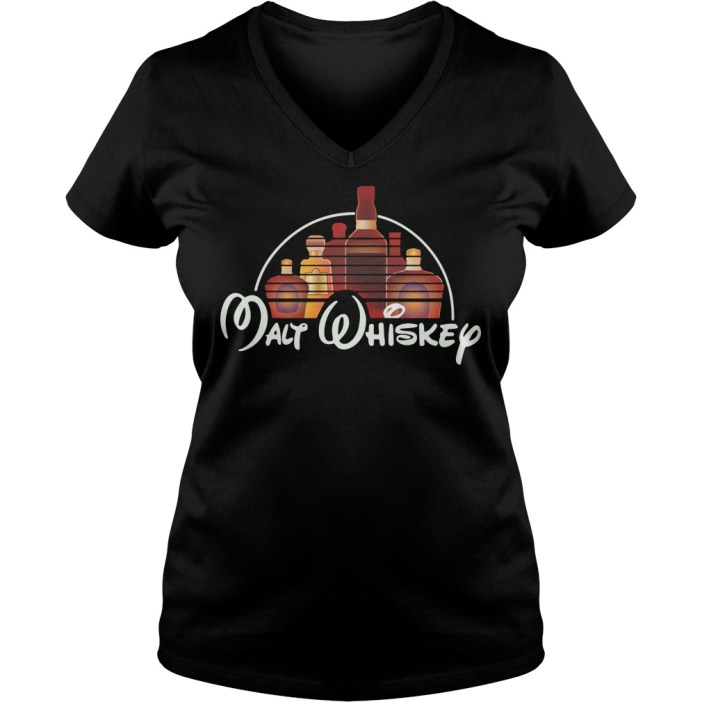 Malt Whiskey Not Walt Disney V-neck