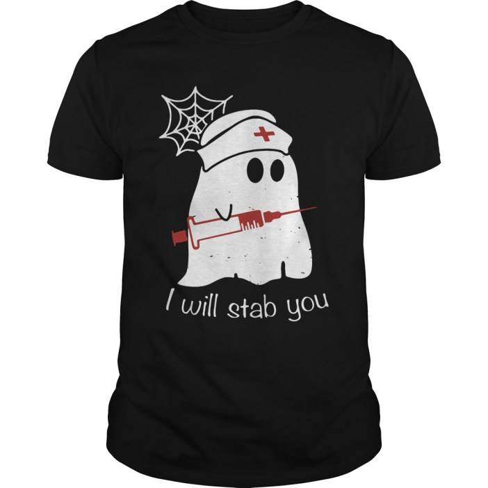 Nurse Ghost I Will Stab You Guys tee