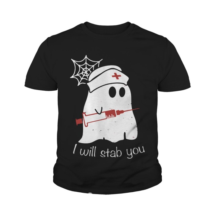 Nurse Ghost I Will Stab You Youth tee