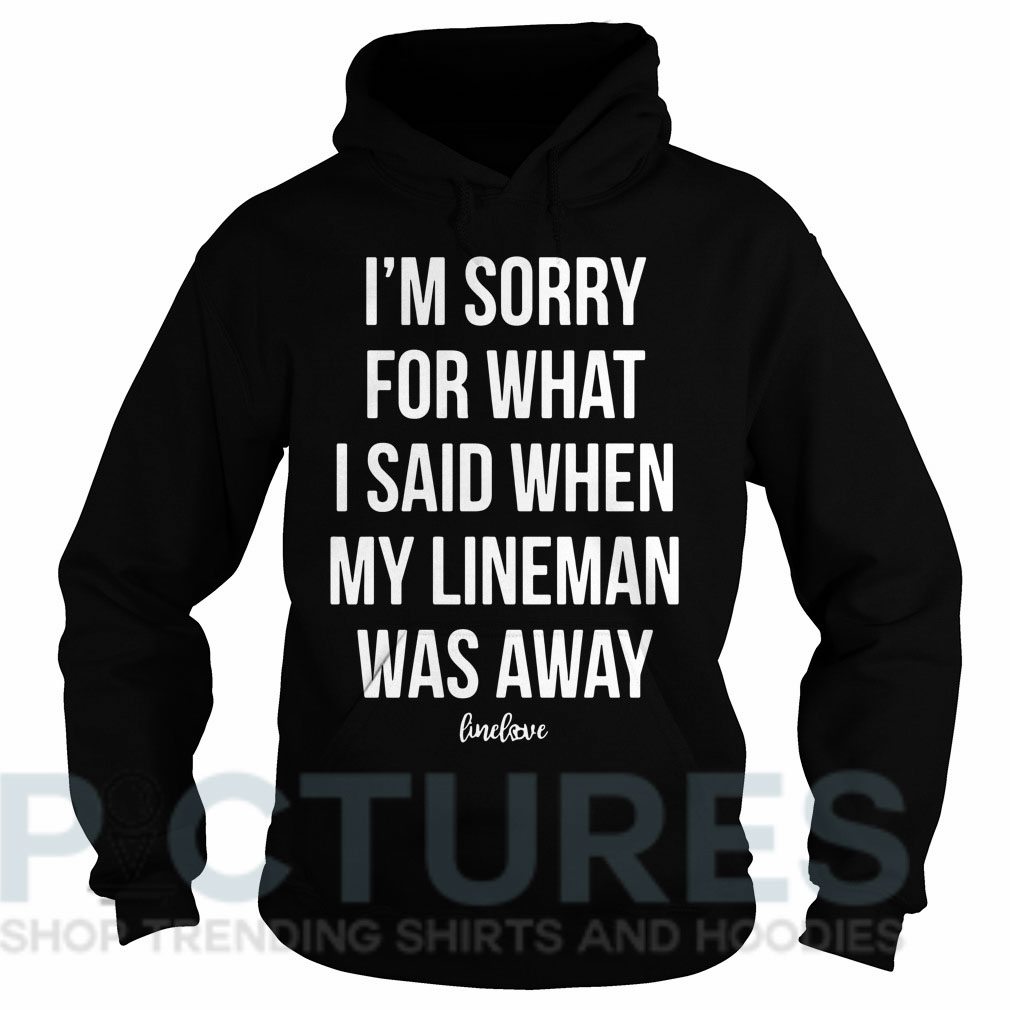 I'm sorry for what I said when my line man was away Hoodie