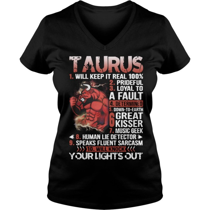 Taurus Will Keep It Real 100% V-neck