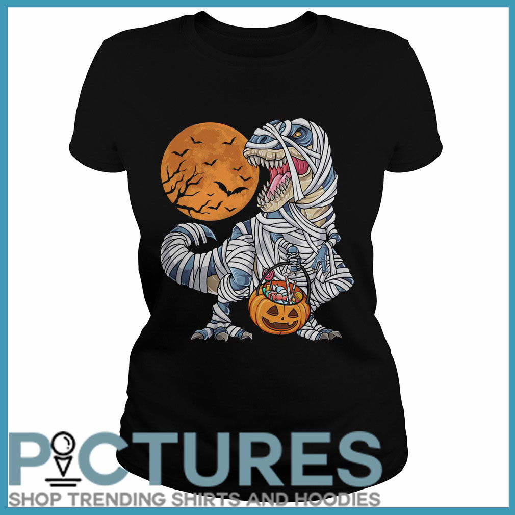 Halloween Dinosaur Mummies Ladies tee