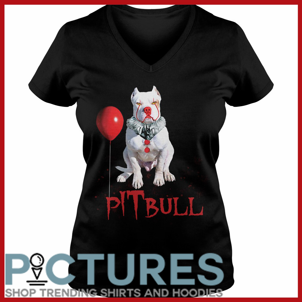 Halloween Pitbull Pennywise V-neck